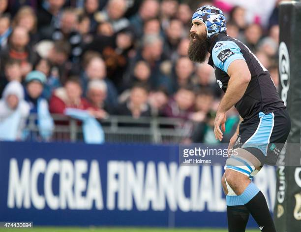 Josh Strauss in action for Glasgow Warriors during the Pro12 Semi Final between Glasgow and Ulster at Scotstoun Stadium on May 22 2015 in Glasgow...