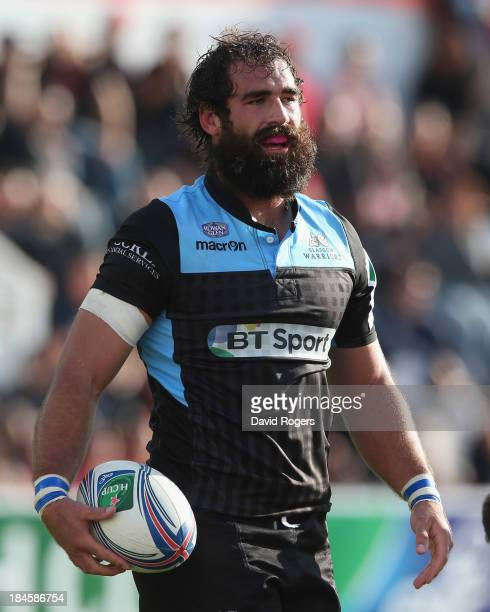 Josh Strauss of Glasgow looks on during the Heineken Cup Pool 2 match between Toulon and Glasgow Warriors at the Felix Mayol Stadium on October 13...