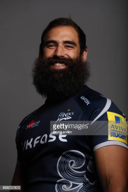 Josh Strauss of Sale Sharks poses during a photocall on August 23 2017 in Sale England