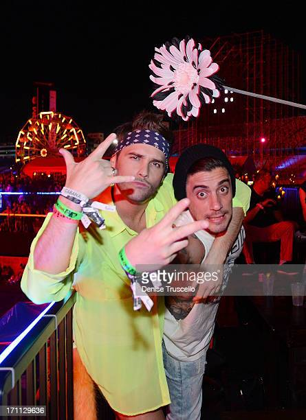 Josh Strickland and Tal Cooperman during the 17th annual Electric Daisy Carnival at Las Vegas Motor Speedway on June 21 2013 in Las Vegas Nevada