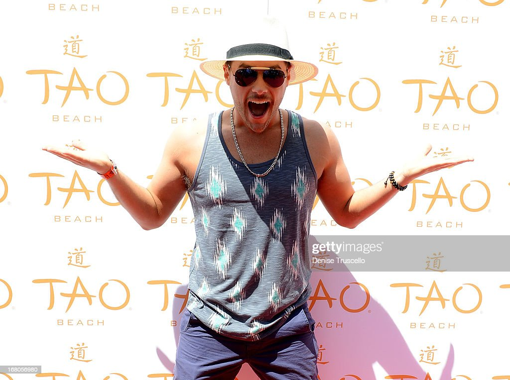 <a gi-track='captionPersonalityLinkClicked' href=/galleries/search?phrase=Josh+Strickland&family=editorial&specificpeople=542117 ng-click='$event.stopPropagation()'>Josh Strickland</a> arrives at the season grand opening of TAO Beach at The Venetian Las Vegas on May 4, 2013 in Las Vegas, Nevada.