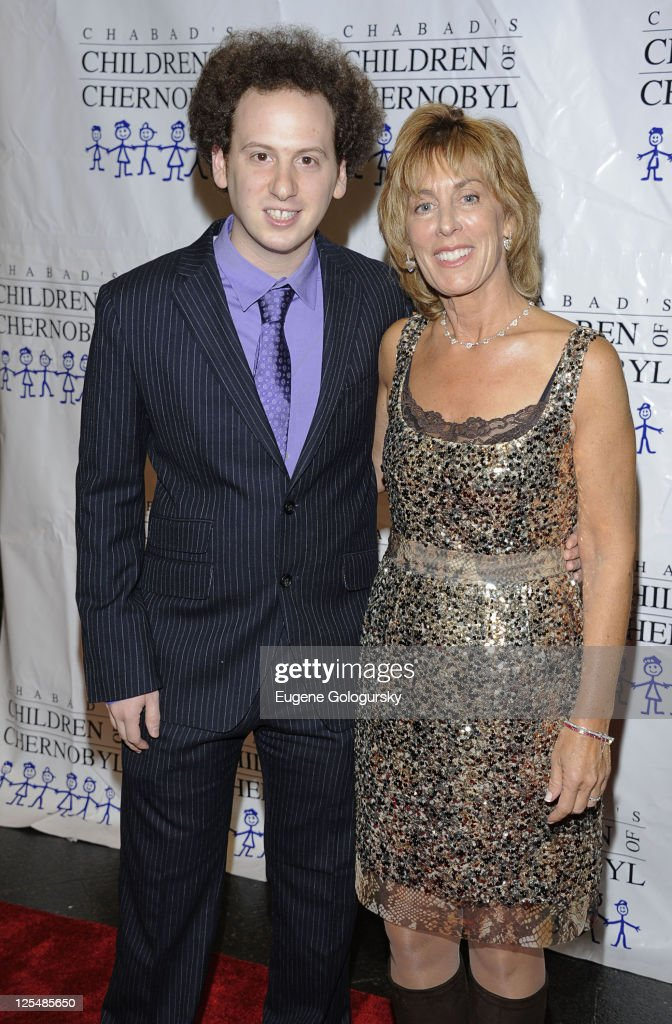 Josh Sussman and Nancy Spielberg attend Chabad's Children of Chernobyl Children at Heart gala at Pier 60 on November 22 2010 in New York City