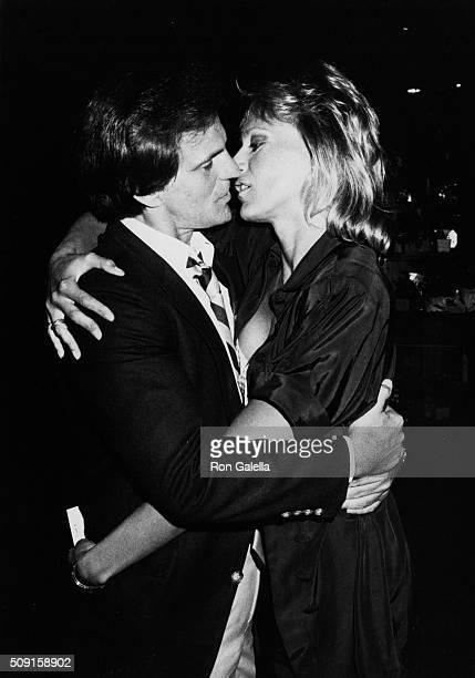 Josh Taylor and Sandahl Bergman attend NBC TV Affiliates Dinner on May 20 1984 at NBC Studios in Burbank California