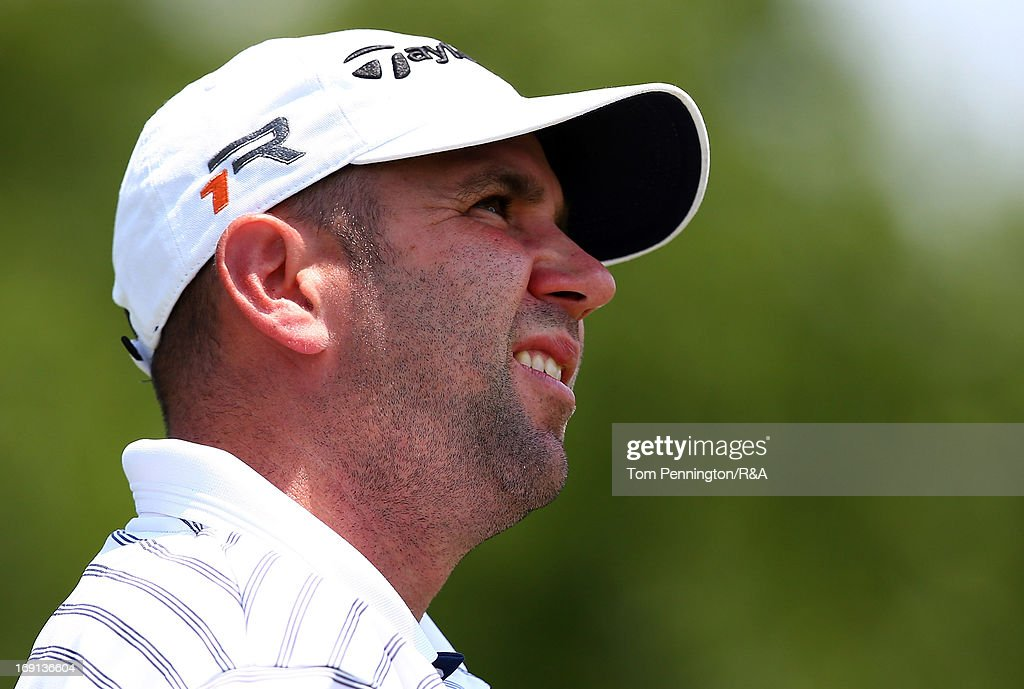 Josh Teater follows his tee shot during The Open Championship International Final Qualifying America at Gleneagles Golf and Country Club on May 20, 2013 in Plano, Texas.
