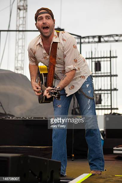 Josh Thompson performs live during the 2012 Country Throwdown Tour at Hoosier Park Racing Casino on June 3 2012 in Anderson Indiana