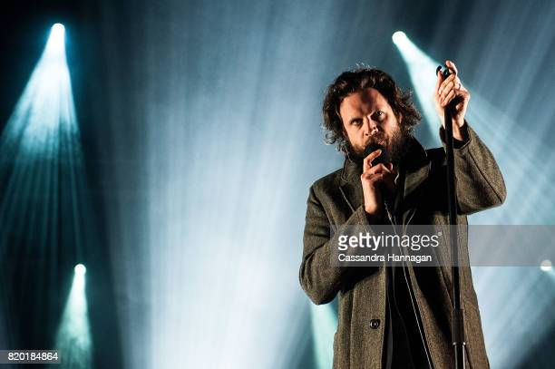 Josh Tillman better known as Father John Misty performs for fans during Splendour in the Grass 2017 on July 21 2017 in Byron Bay Australia