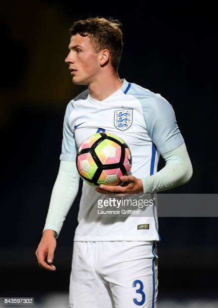 Josh Tymon of England looks on during the International match between England and Germany at One Call Stadium on September 5 2017 in Mansfield England