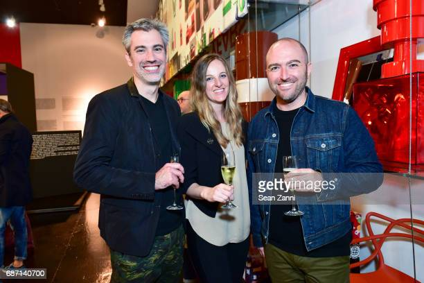 Josh Urso Kim Bricker and Justin Frable attend Kartell Tribute to Componibili 50th Anniversary at Kartell Flagship Store New York on May 22 2017 in...