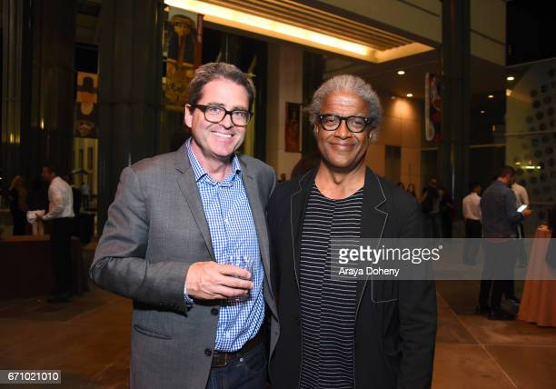 Josh Welsh and Elvis Mitchell attend the Film Independent at LACMA Special Screening and QA of 'The Life Of Henrietta Lacks' at Bing Theatre At LACMA...