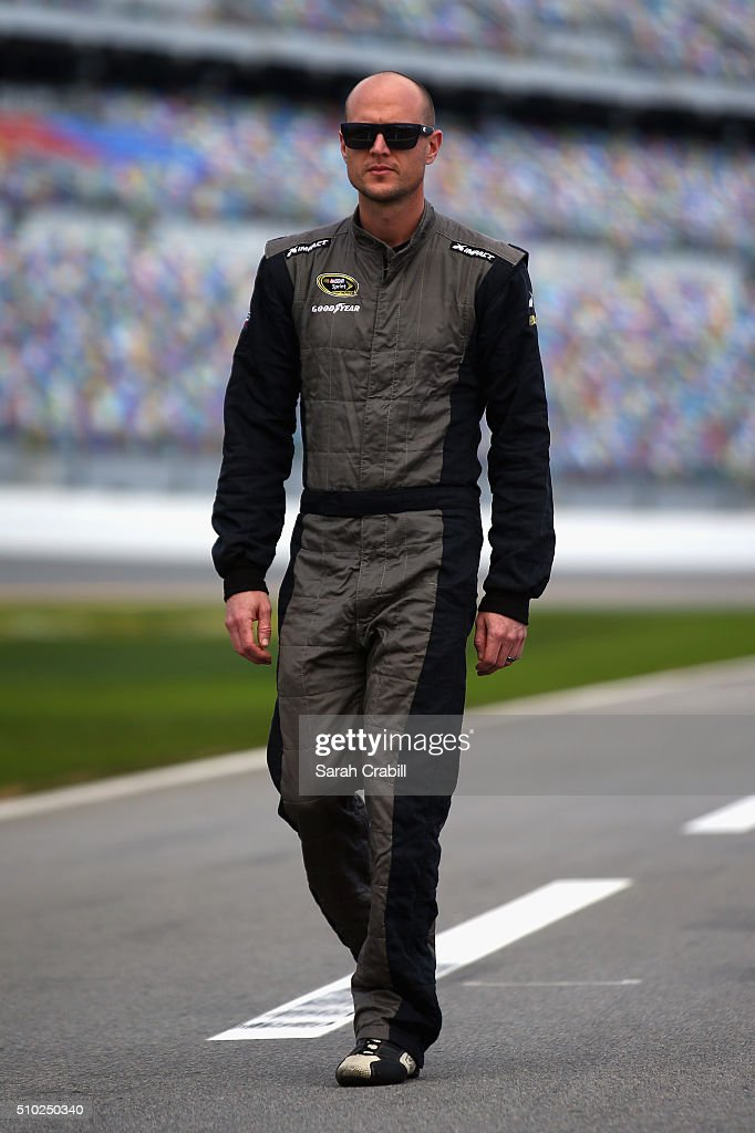 <a gi-track='captionPersonalityLinkClicked' href=/galleries/search?phrase=Josh+Wise+-+Race+Car+Driver&family=editorial&specificpeople=12854682 ng-click='$event.stopPropagation()'>Josh Wise</a>, driver of the #30 Curtis Key Plumbing Chevrolet, walks on the grid during qualifying for the NASCAR Sprint Cup Series Daytona 500 at Daytona International Speedway on February 14, 2016 in Daytona Beach, Florida.