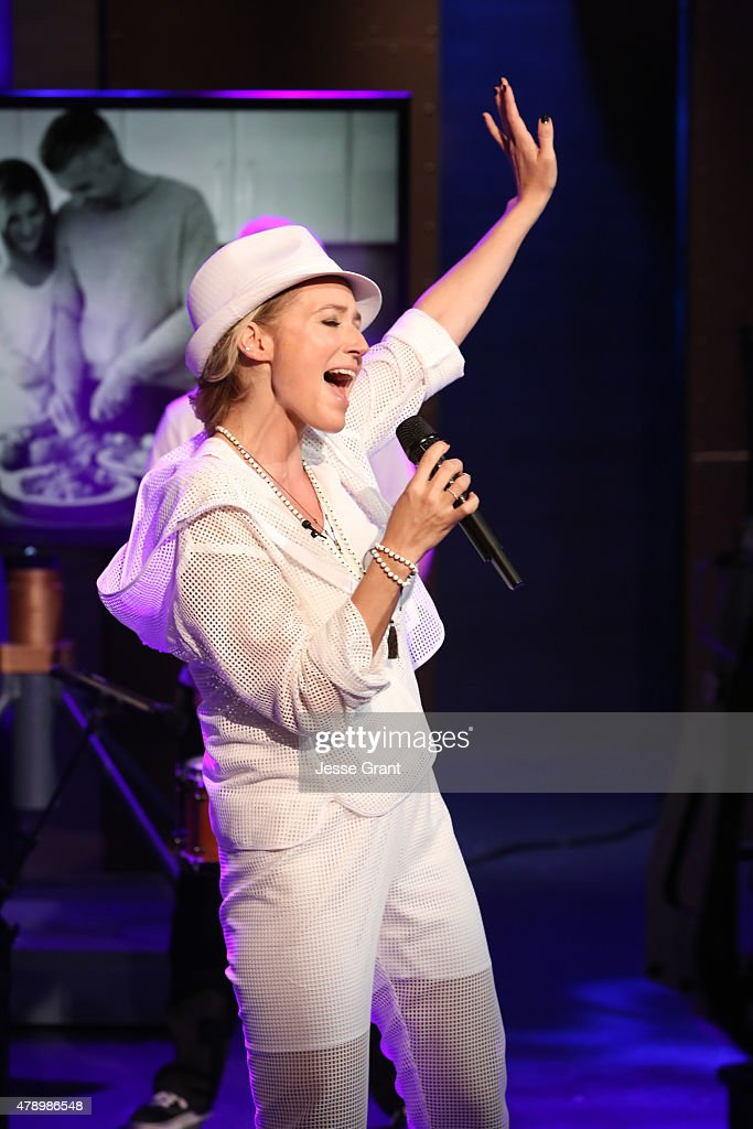 Josh Wolf hosts singersongwriter Jewel on 'The Josh Wolf Show' June 24 2015 in Los Angeles California The show airs June 25 on CMT