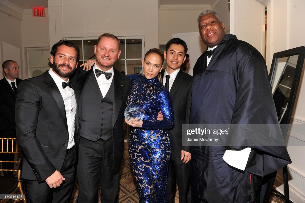 Josh Wood, amfAR Chief Executive Officer Kevin Robert Frost, Jennifer Lopez, Nikom Wongtee and Andre Leon Talley attend the 4th Annual amfAR Inspiration Gala New York at The Plaza Hotel on June 13, 2013 in New York City.