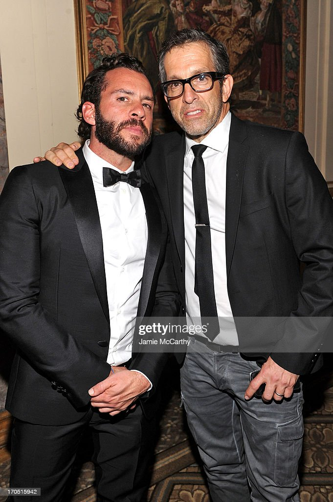 Josh Wood and designer Kenneth Cole pose during the 4th Annual amfAR Inspiration Gala New York at The Plaza Hotel on June 13, 2013 in New York City.