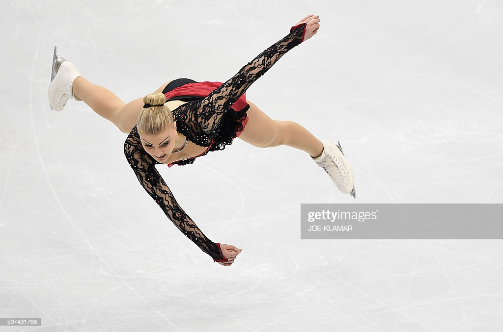 TOPSHOT Joshi Helgesson of Sweden competes during the ladies free skating at the European Figure Skating Championship in Bratislava on January 292016...