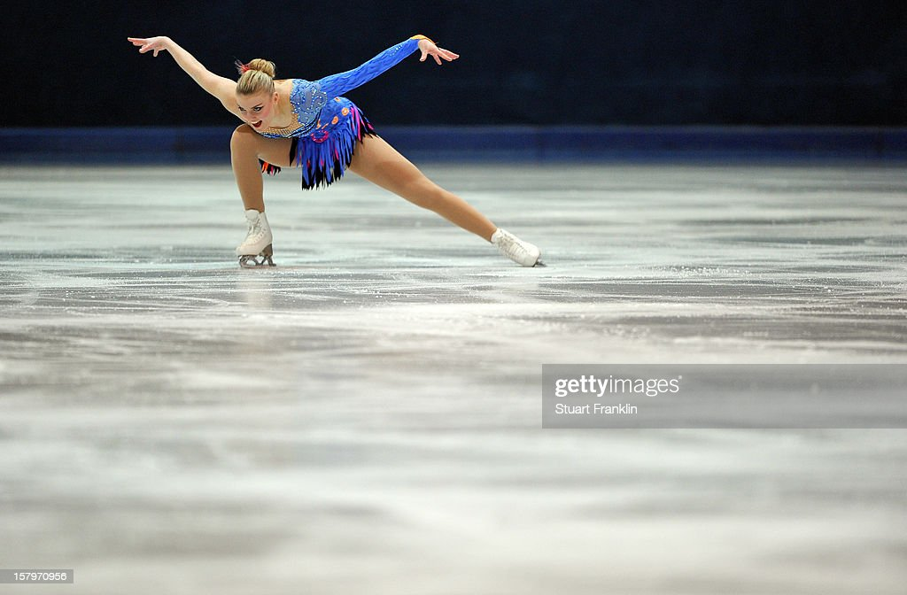 Joshi Helgesson of Sweden dances during the senior ladies short program of the NRW trophy 2012 at Eissportzentrum on December 8, 2012 in Dortmund, Germany.