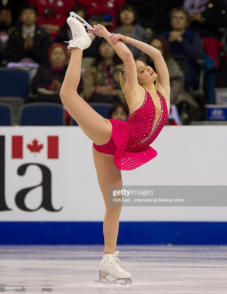 <a gi-track='captionPersonalityLinkClicked' href=/galleries/search?phrase=Joshi+Helgesson&family=editorial&specificpeople=6523214 ng-click='$event.stopPropagation()'>Joshi Helgesson</a> of Sweden grabs her skate while competing during the Ladies Short Program on day one of Skate Canada International ISU Grand Prix of Figure Skating on October 30, 2015 at ENMAX Centre in Lethbridge, Alberta, Canada.