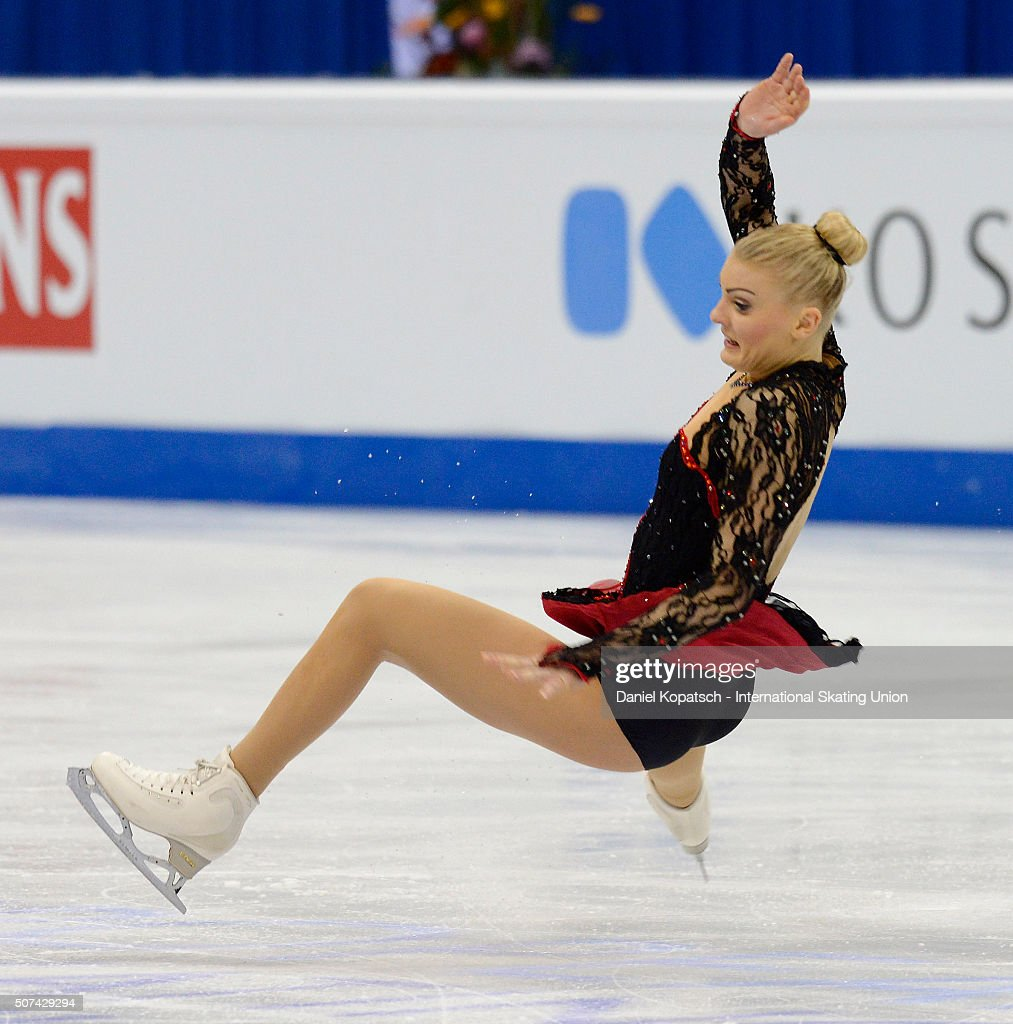 <a gi-track='captionPersonalityLinkClicked' href=/galleries/search?phrase=Joshi+Helgesson&family=editorial&specificpeople=6523214 ng-click='$event.stopPropagation()'>Joshi Helgesson</a> of Sweden performs during the Ladies Free Skating during day three of the ISU European Figure Skating Championships 2016 on January 29, 2016 in Bratislava, Slovakia.