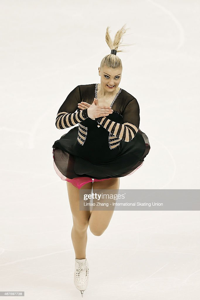 <a gi-track='captionPersonalityLinkClicked' href=/galleries/search?phrase=Joshi+Helgesson&family=editorial&specificpeople=6523214 ng-click='$event.stopPropagation()'>Joshi Helgesson</a> of Sweden performs during the Ladies Short Program on day two of the 2015 ISU World Figure Skating Championships at Shanghai Oriental Sports Center on March 26, 2015 in Shanghai, China.