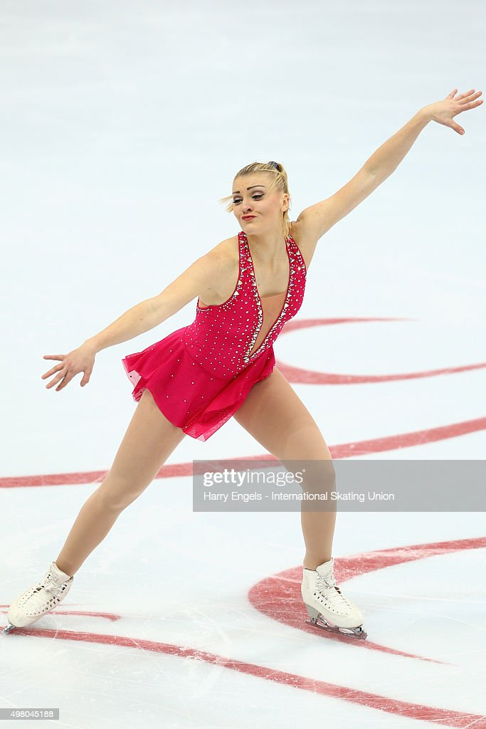 <a gi-track='captionPersonalityLinkClicked' href=/galleries/search?phrase=Joshi+Helgesson&family=editorial&specificpeople=6523214 ng-click='$event.stopPropagation()'>Joshi Helgesson</a> of Sweden skates during the Ladies Short Program on day one of the Rostelecom Cup ISU Grand Prix of Figure Skating 2015 at the Luzhniki Palace of Sports on November 20, 2015 in Moscow, Russia.