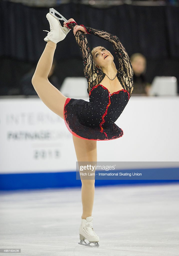 <a gi-track='captionPersonalityLinkClicked' href=/galleries/search?phrase=Joshi+Helgesson&family=editorial&specificpeople=6523214 ng-click='$event.stopPropagation()'>Joshi Helgesson</a> of Sweden skates while competing in the Ladies Free Skate on day two of Skate Canada International ISU Grand Prix of Figure Skating, October, 31, 2015 at ENMAX Centre in Lethbridge, Alberta, Canada.