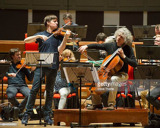 Joshua Bell and Steven Isserlis perform with The Academy Of St Martin In The Fields at Symphony Hall on January 9 2016 in Birmingham England