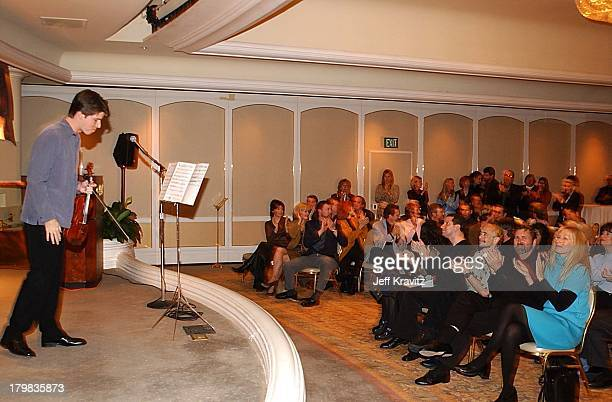Joshua Bell during Reception for Society of Composers Lyricists for a performance of excerpts of the score of Iris in Beverly Hills California United...
