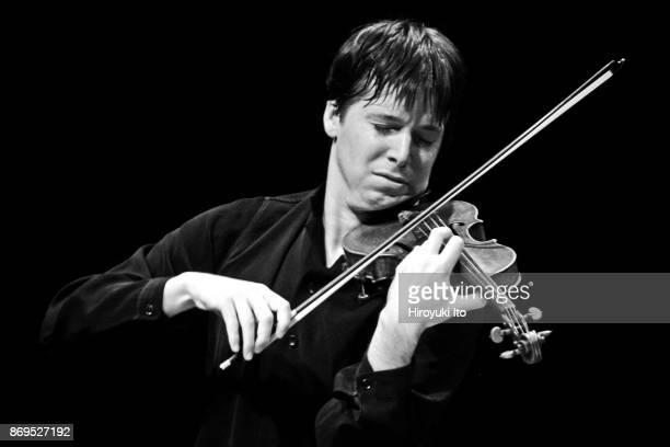 Joshua Bell on violin performing Edgar Meyer's 'Concerto Piece for Violin and Piano' in Mostly Mozart Festival's 'Joshua Bell and Friends' at Avery...