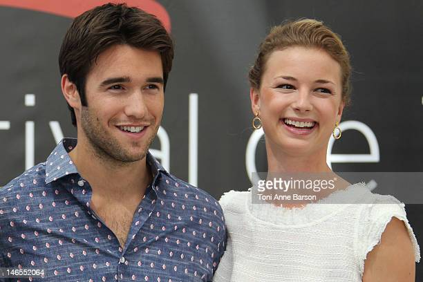 Joshua Bowman and Emily VanCamp attend 'Revenge' photocall at the Grimaldi Forum during the 52nd Monte Carlo TV Festival on June 12 2012 in...