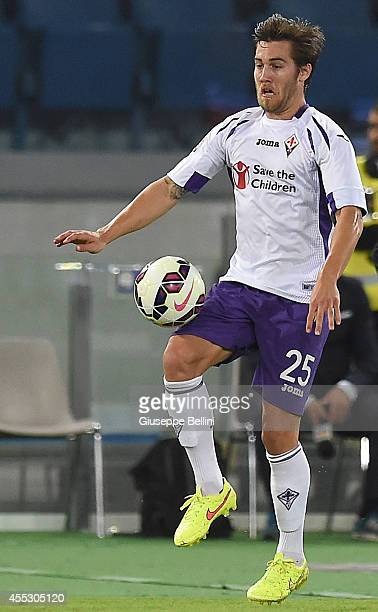 Joshua Brillante of Fiorentina in action during the Serie A match between AS Roma and ACF Fiorentina at Stadio Olimpico on August 30 2014 in Rome...