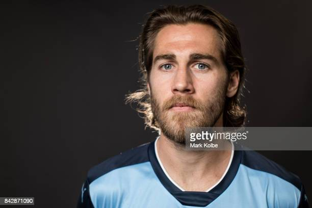 Joshua Brillante poses during the Sydney FC ALeague headshots session at Macquarie University on September 5 2017 in Sydney Australia