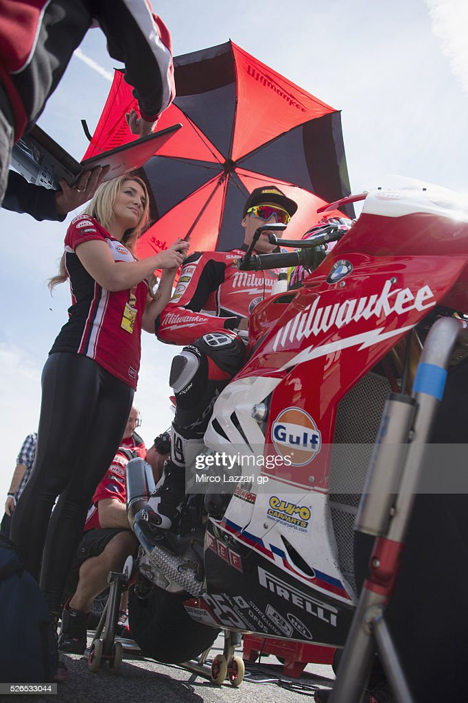Joshua Brookes of Australia and Milwaukee BMW prepares to start on the grid during the Superbike Race 1 during the World Superbikes - Qualifying at Enzo & Dino Ferrari Circuit on April 30, 2016 in Imola, Italy.