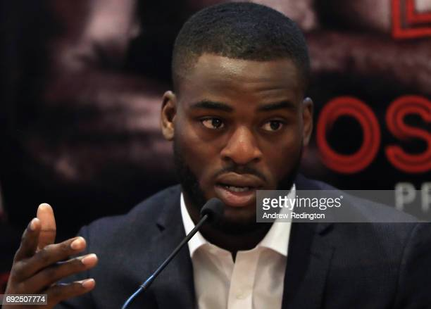 Joshua Buatsi is pictured during the Frank Buglioni and Ricky Summers Press Conference on June 5 2017 in London England
