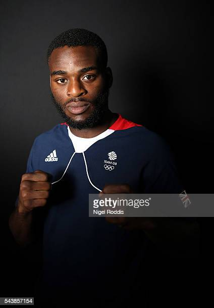 Joshua Buatsi of Great Britain during the Announcement of Boxing Athletes Named in Team GB for the Rio 2016 Olympic Games at the Institute of Sport...