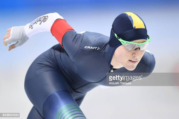 Joshua Capponi of Australia competes in the mens 10000m during the day five of the 2017 Sapporo Asian Winter Games at Obihiro forest speed skating...