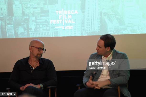 Joshua David and Archie Lee Coates IV speak on stage at The Cities Project by Heineken on April 22 2017 in New York City