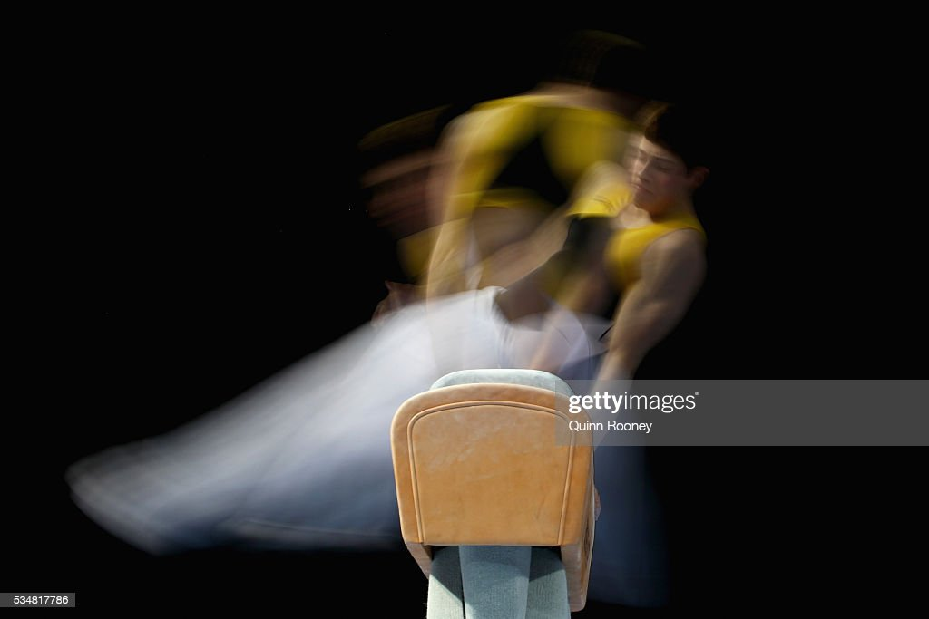 Joshua Di Nucci of Western Australiaa competes on the pommel horse during the 2016 Australian Gymnastics Championships at Hisense Arena on May 28...
