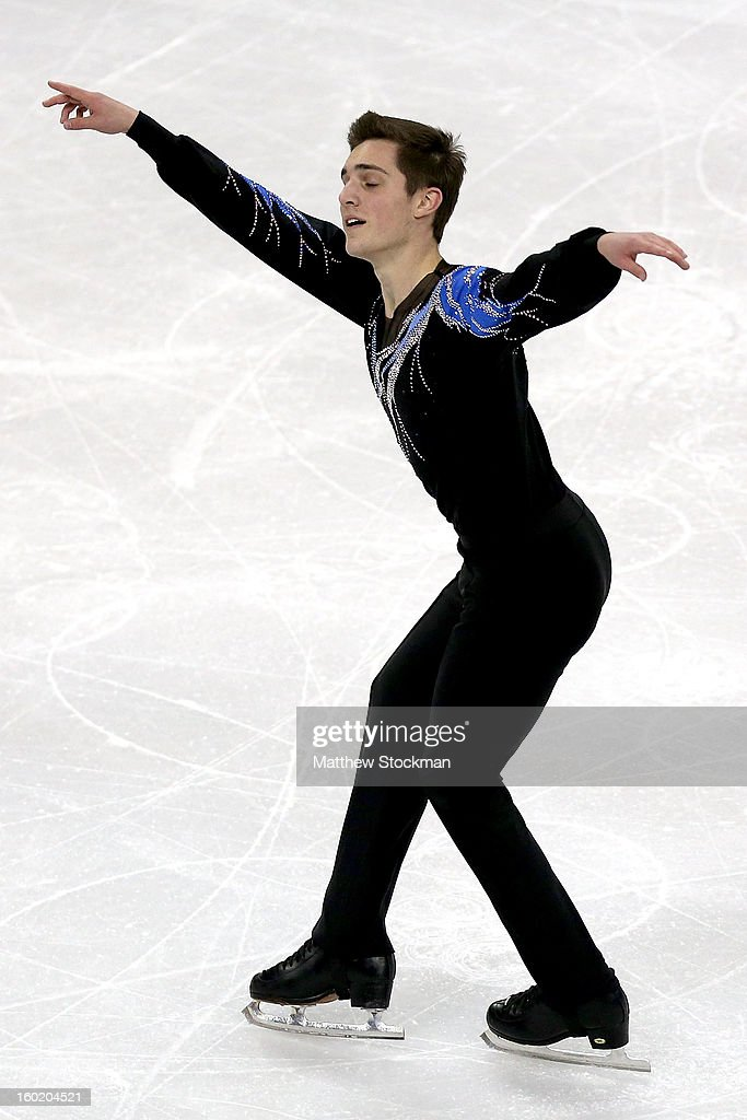 Joshua Farris competes in the Men's Free Skate during the 2013 Prudential U.S. Figure Skating Championships at CenturyLink Center on January 27, 2013 in Omaha, Nebraska.