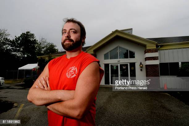 Joshua Galvin a teacher from Toddle Inn Child Care in South Portland whose quick thinking and actions potentially saved many lives on Wednesday poses...