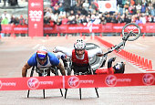 Joshua George of the United States on his way to winning the Men's Wheelchair Virgin Money London Marathon on April 26 2015 in London England