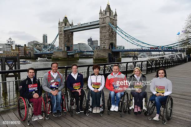 Joshua George of The USA Marcel Hug of Switzerland Tatyana McFadden of The USA Wakako Tsuchida of Japan David Weir of Great Britain Shelly Woods of...