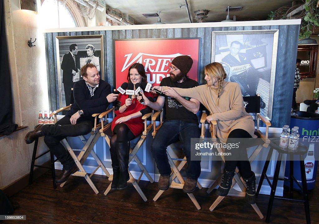 Joshua Harto, Liz W. Garcia, Martin Starr and Kristen Bell attend Day 3 of the Variety Studio At 2013 Sundance Film Festival on January 21, 2013 in Park City, Utah.