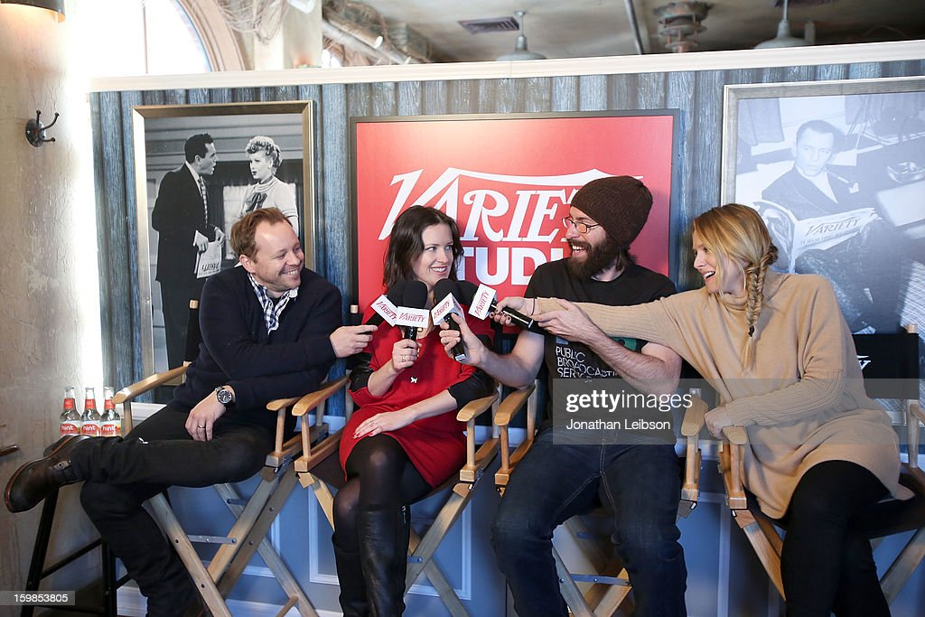 Joshua Harto, Liz W. Garcia, Martin Starr and Kristen Bell attend Day 3 of the Variety Studio At 2013 Sundance Film Festival on January 21, 2013 in Park City, Utah.