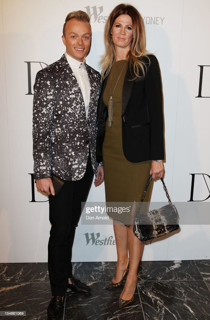 Joshua Heath and guest arrive at the Diane Von Furstenberg 2013 Palazzo DVF Collection show at Sydney Westfield Shopping Centre on October 24, 2012 in Sydney, Australia.