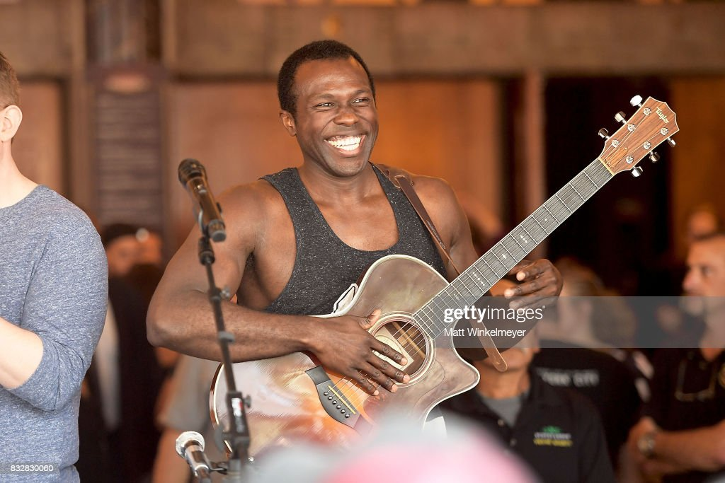 Joshua Henry performs at the #Ham4Ham featuring Lin-Manuel Miranda at the Pantages Theatre on August 16, 2017 in Hollywood, California.