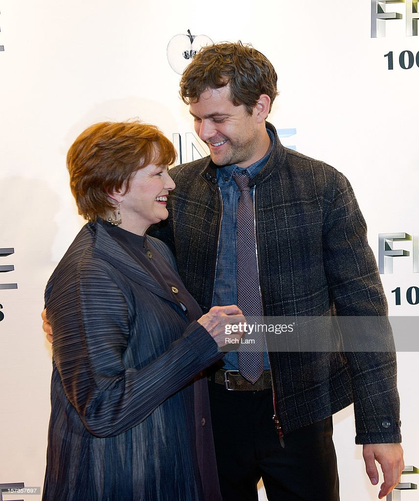 Joshua Jackson and Blair Brown share a laugh on the red carpet while attending 'Fringe' celebrates 100 episodes and final season at Fairmont Pacific Rim on December 1, 2012 in Vancouver, Canada.