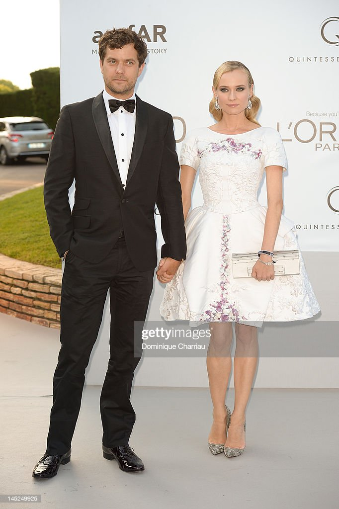 Joshua Jackson and Diane Kruger arrive at the 2012 amfAR's Cinema Against AIDS during the 65th Annual Cannes Film Festival at Hotel Du Cap on May 24, 2012 in Cap D'Antibes, France.