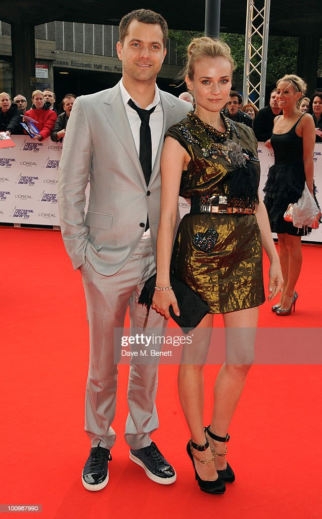 Joshua Jackson and Diane Kruger arrive at the National Movie Awards at the Royal Festival Hall on May 26 2010 in London England