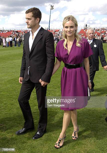 Joshua Jackson and Diane Kruger during the Rock the Polo The Cartier International Day at Guards Polo Club on July 29 2007 in Windsor England