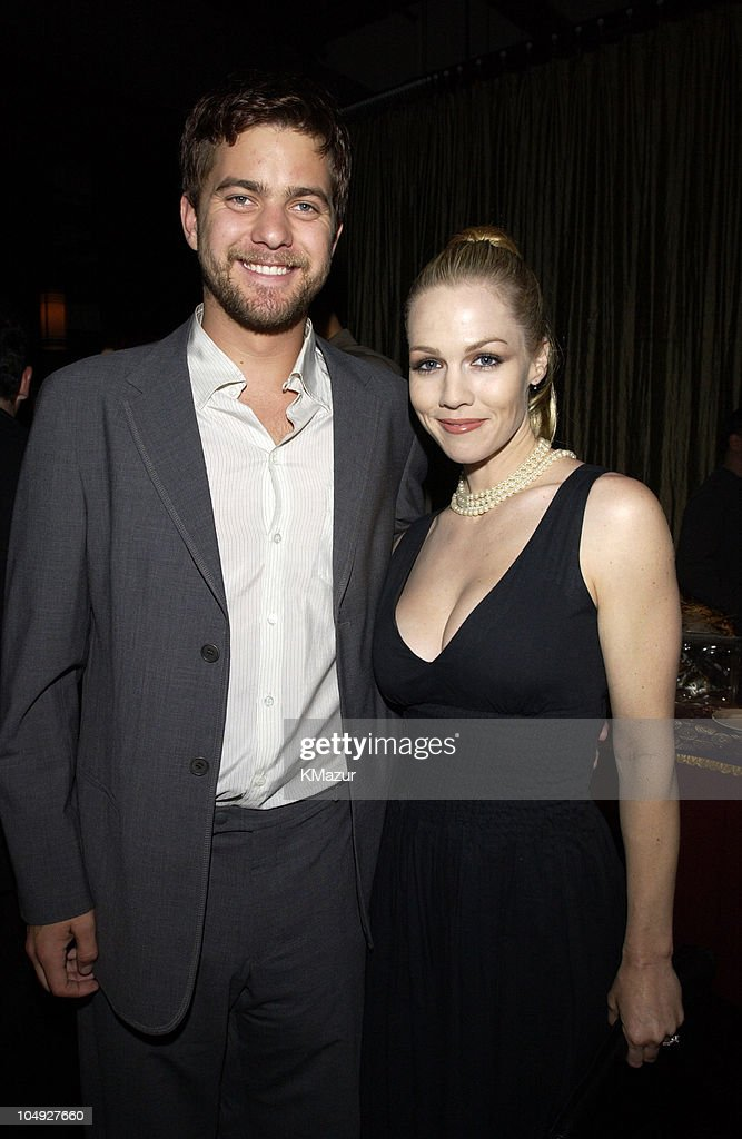 Joshua Jackson and Jennie Garth during The WB Television Network Upfront Allstar Party at The Lighthouse at Chelsea Piers in New York City New York...