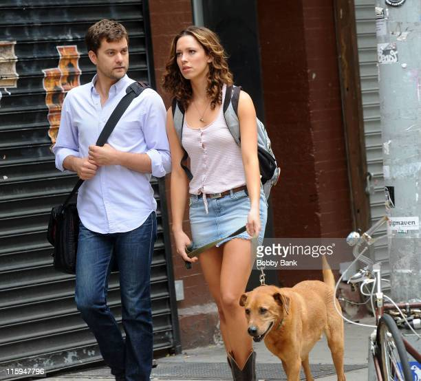 Joshua Jackson and Rebecca Hall filming on location for 'Lay The Favorite' on the streets of Manhattan on June 12 2011 in New York City
